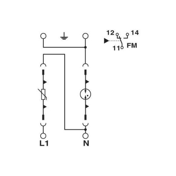 Phoenix Contact T2 AC VAL-MS 230/1+1-FM