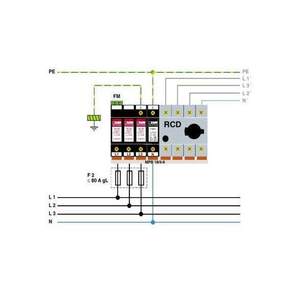 Phoenix Contact T2 AC VAL-MS 230/3+1 FM