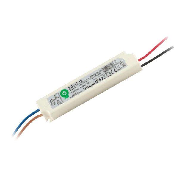 POS Led tápegység PSV-12-12 12W 12V 1A IP67
