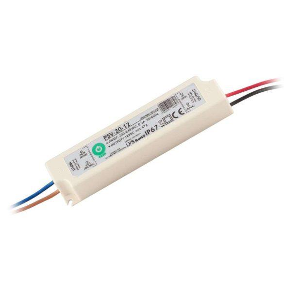 POS Led tápegység PSV-20-12 20W 12V 1.67A IP67