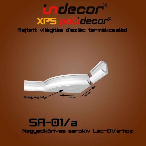 Indecor® SA-01A Íves sarokelem