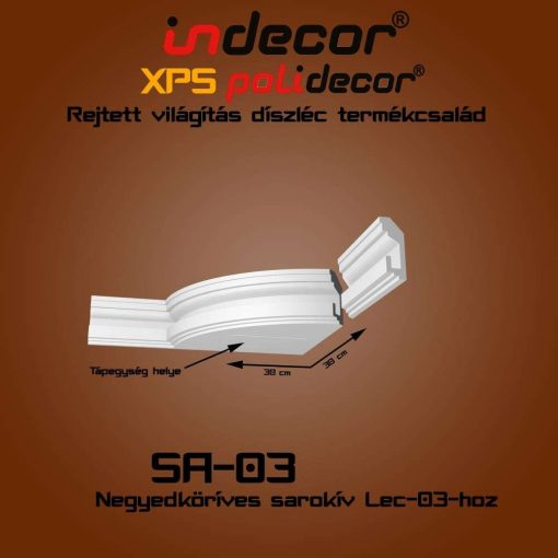 Indecor® SA-03 Íves sarokelem
