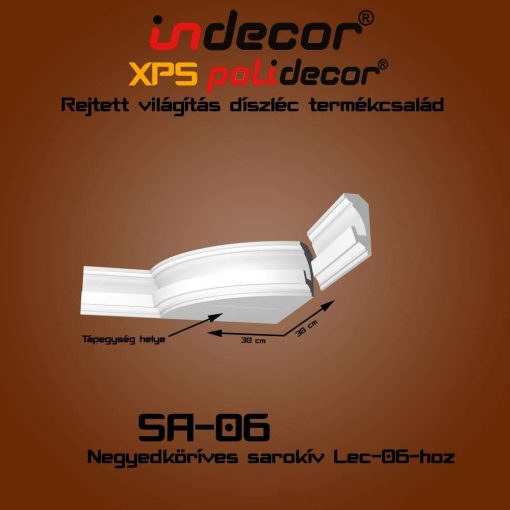 Indecor® SA-06 Íves sarokelem
