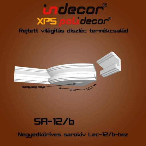 Indecor® SA-12B Íves sarokelem