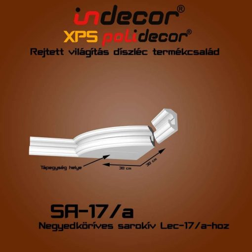 Indecor® SA-17A Íves sarokelem