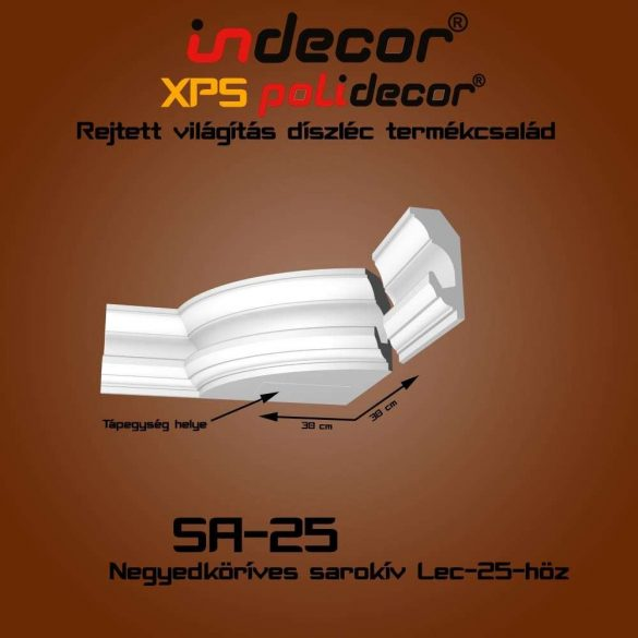 Indecor® SA-25 Íves sarokelem