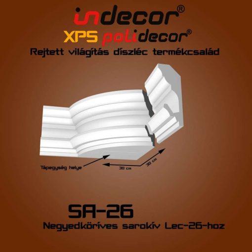 Indecor® SA-26 Íves sarokelem