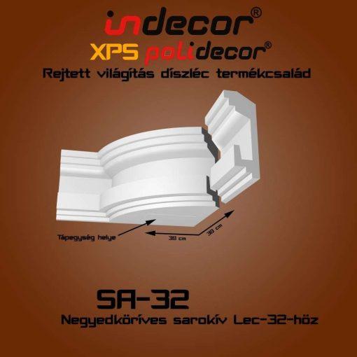Indecor® SA-32 Íves sarokelem