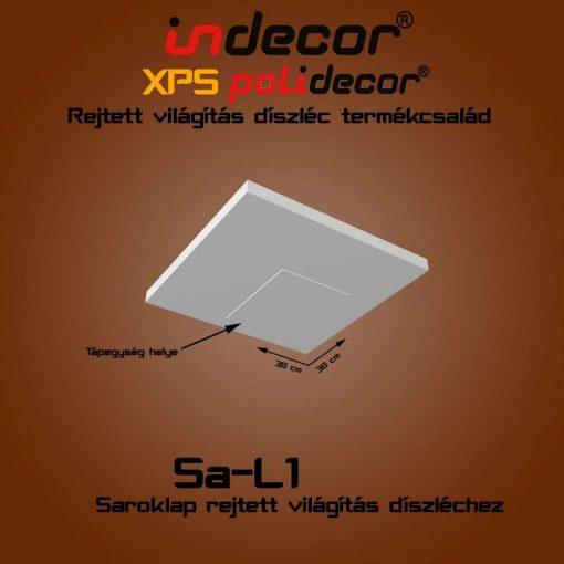 Indecor® SA-L1 Saroklap rejtett világítás díszlécekhez