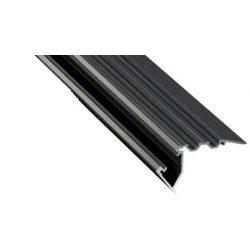 Led Alumínium Lépcső Profil SCALA 2 méter Fekete