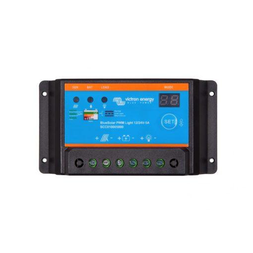 PWM-Light 5A 12-24V Napelemes töltésvezérlő Victron Energy BlueSolar