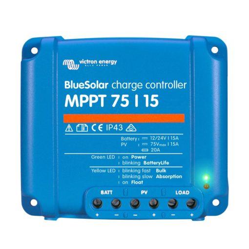 MPPT 75/15A 12/24V Napelemes töltésvezérlő Victron Energy BlueSolar