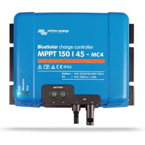 MPPT 150/45 MC4 12/24/36/48V Napelemes töltésvezérlő Victron Energy BlueSolar