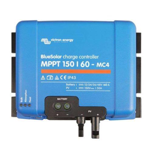 MPPT 150/60 MC4 12/24/36/48V Napelemes töltésvezérlő Victron Energy BlueSolar