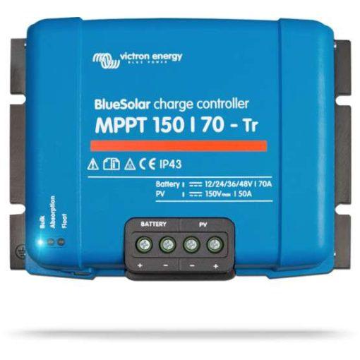 MPPT 150/70 TR 12/24/36/48V Napelemes töltésvezérlő Victron Energy BlueSolar