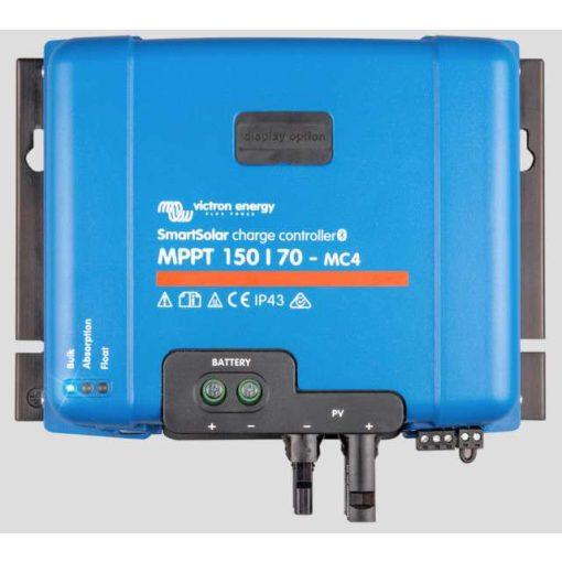 MPPT 150/70 MC4 12/24/36/48V Napelemes töltésvezérlő Victron Energy BlueSolar