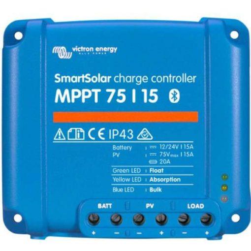 MPPT 75/15 A12/24V Napelemes töltésvezérlő Victron Energy SmartSolar