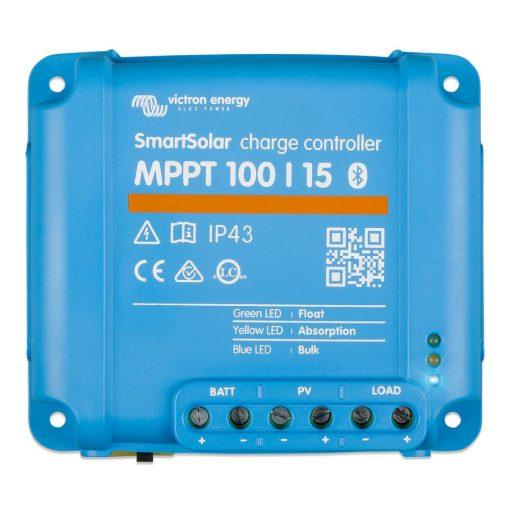 MPPT 100/15 12/24V Napelemes töltésvezérlő Victron Energy SmartSolar