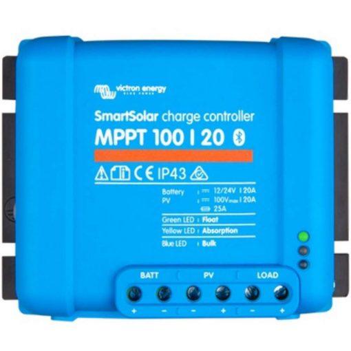 MPPT 100/20 12/24V Napelemes töltésvezérlő Victron Energy SmartSolar