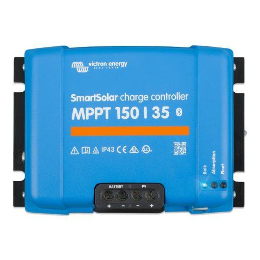 MPPT 150/35A 12/24/36/48V Napelemes töltésvezérlő Victron Energy SmartSolar