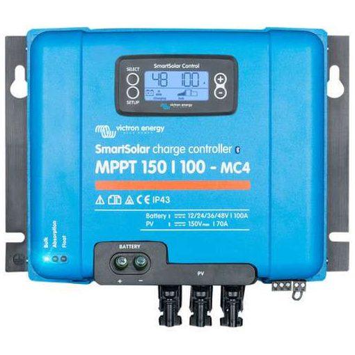 MPPT 150/100A MC4 12/24/48V Napelemes töltésvezérlő Victron Energy SmartSolar