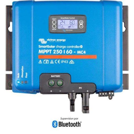 MPPT 250/60A MC4 12/24/48V Napelemes töltésvezérlő Victron Energy SmartSolar