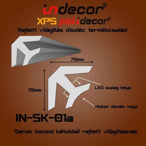 Indecor® SK-01A Sarok konzol 70x70