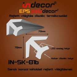 SK-01B Sarok konzol 70x70