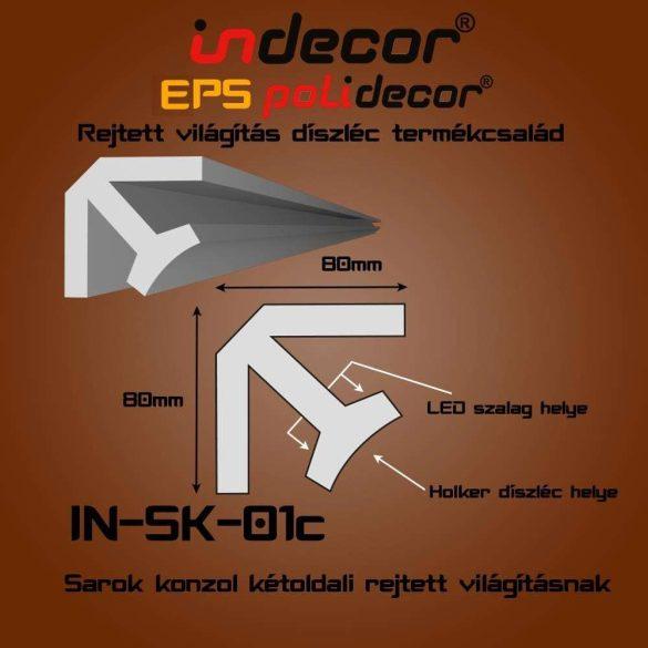 Indecor® SK-01C Sarok konzol 80x80
