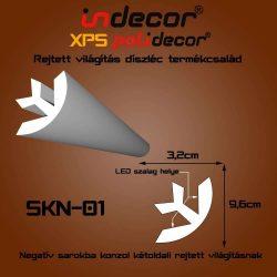 SKN-01 Negatív Sarok konzol 32x96