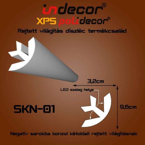 Indecor® SKN-01 Negatív Sarok konzol 32x96