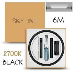 SKYLINE AURORA EXKLUZÍV Indirekt világítás 24V 13,5W/m 2700K 6m hosszú Fekete
