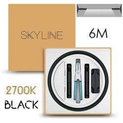 SKYLINE AURORA EXKLUZÍV Direkt világítás 24V 10W/m 2700K 6m hosszú Fekete