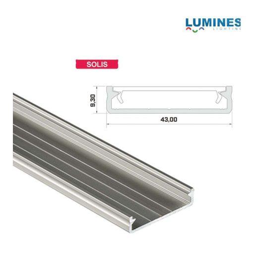 LED Alumínium Profil Széles Ezüst 3 méter