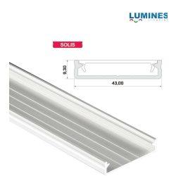 Led profil led szalagokhoz Széles Fehér 1 méteres alumínium