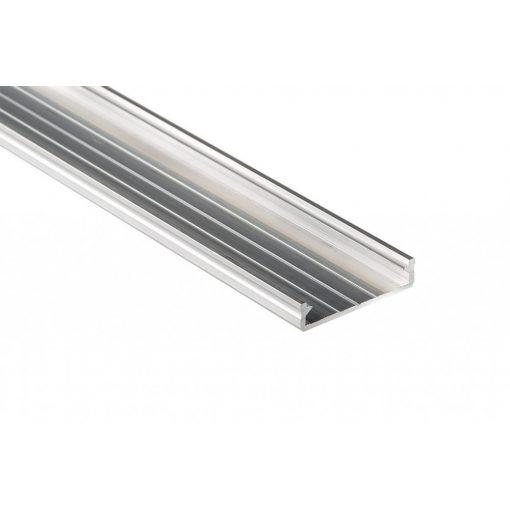Led profil led szalagokhoz Széles natúr 2 méteres alumínium