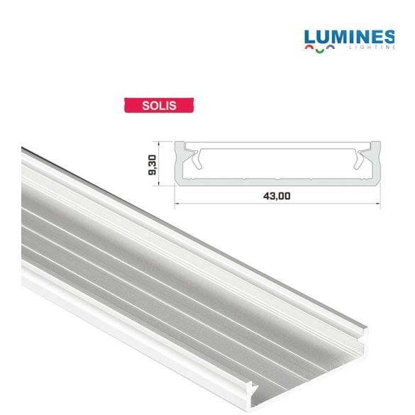 Led profil led szalagokhoz Széles Fehér 2 méteres alumínium