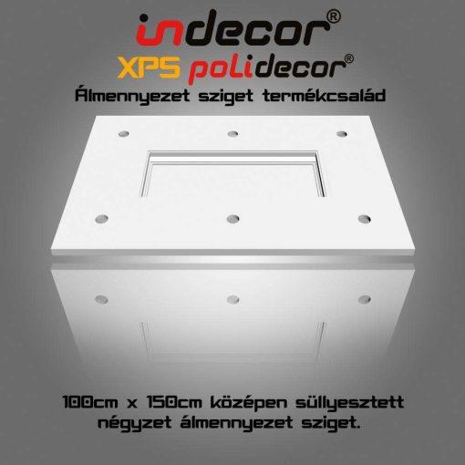 Indecor® T-150x100 Téglalap álmennyezet sziget