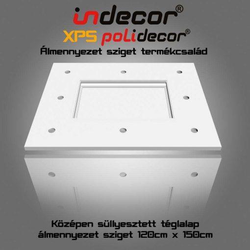 Indecor® T-150x120 Téglalap álmennyezet sziget