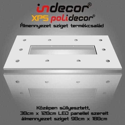Indecor® T-180x90-LP Süllyesztett álmennyezet LED panel világításnak