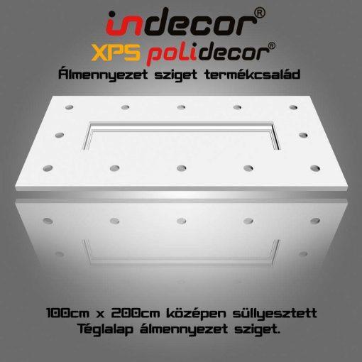 Indecor® T-200x100 Téglalap álmennyezet sziget