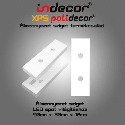 Indecor® T-200x140 Téglalap álmennyezet sziget