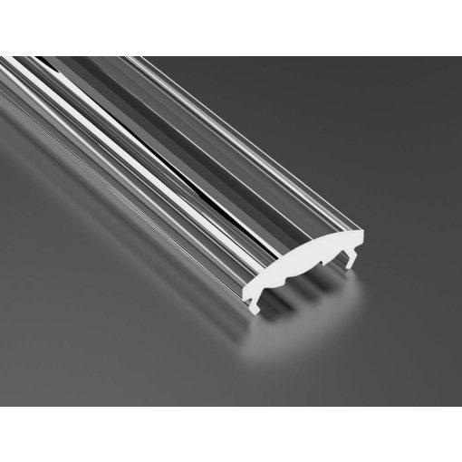 Átlátszó - Transparent PMMA takaróprofil 1 méter 30°