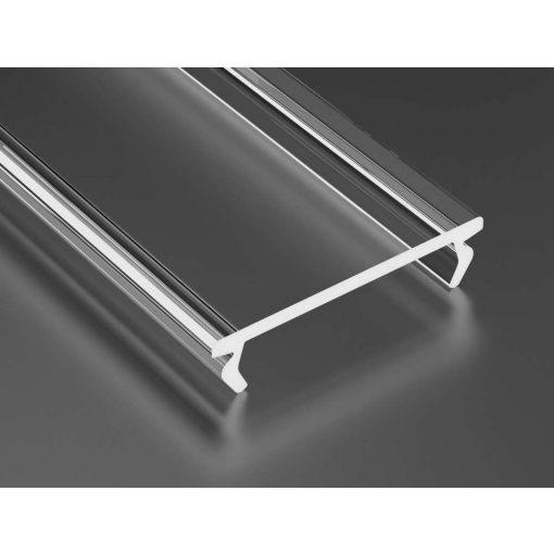 Átlátszó - Transparent PMMA DOUBLE takaróprofil 3 méter