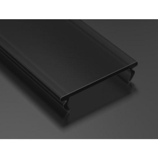 Fekete - Black PMMA takaróprofil DOUBLE típusú 3 méter