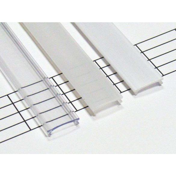 Magasított Átlátszó PVC takaróprofilok  3 méteres profilokhoz