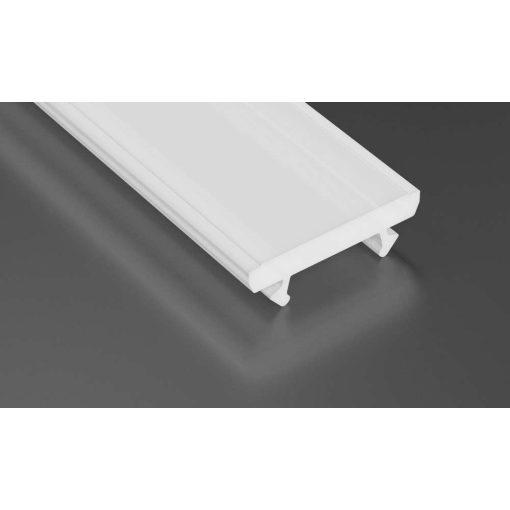 Tejfehér PVC takaróprofil TERRA típus 2 méter