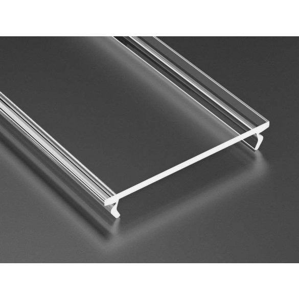 Átlátszó PVC takaróprofil Széles Led profilokhoz 1 méteres
