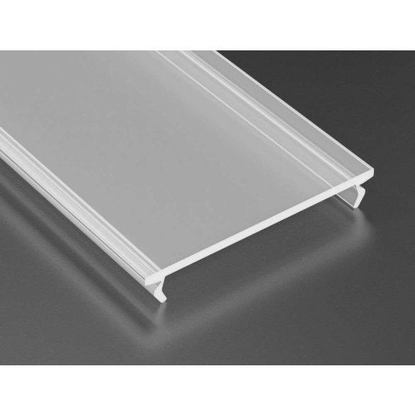 Opál PMMA takaróprofil Széles Led profilokhoz 2 méteres