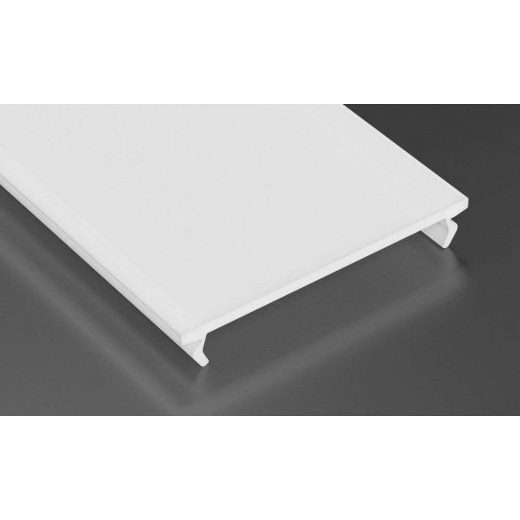 Tejfehér PMMA takaróprofil Széles Led profilokhoz 1 méteres